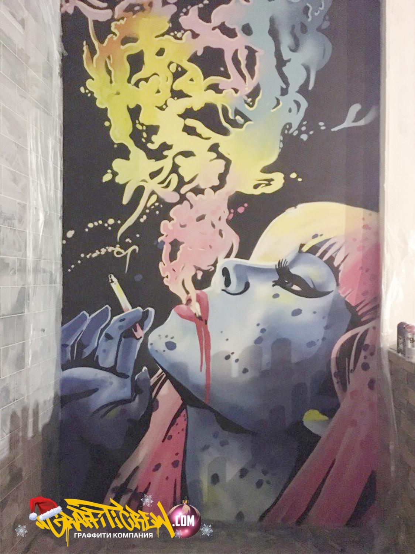 Граффити для ночного клуба фотоотчет ночных клубов в клубе